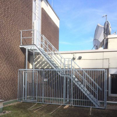 Industrietreppe mit Einzäunung WDR Dortmund